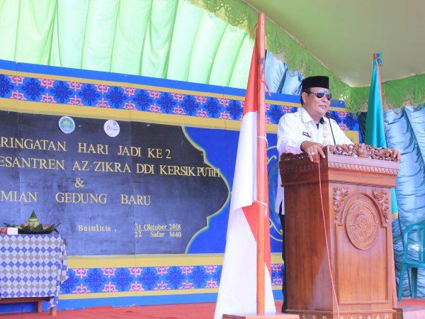Hadiri Milad ke-2 Ponpes Azzikra DDI, Gubernur H. Sahbirin Noor kobarkan semangat maju.